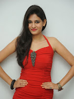 Actress Swetha Jadhav Glam Pics in red at Ee Manase audio-cover-photo