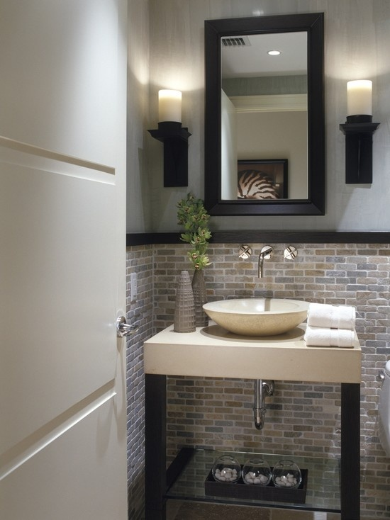 Staged Above Bathrooms For High End Condos