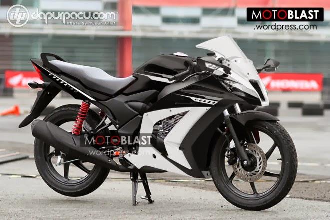 Foto Modifikasi Motor Honda Verza 150 Fairing Sport Terbaru 2013