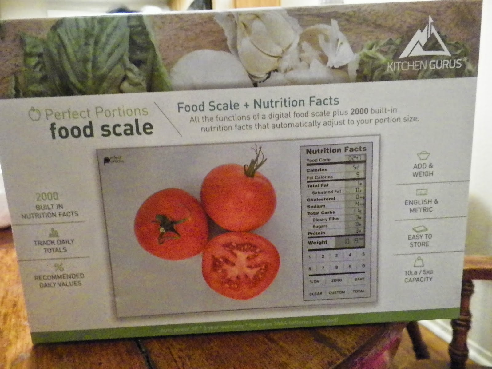 Mygreatfinds Perfect Portions Digital Scale Nutrition Facts Display By Kitchen Gurus Review