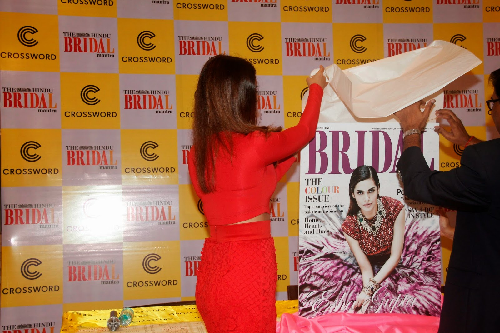 Esha Gupta at 5th Hindu Bridal Mantra Magazine Cover Stills
