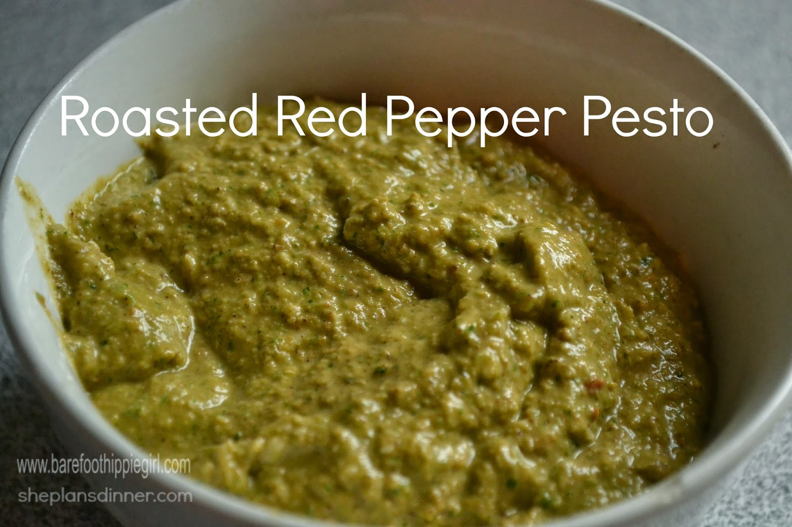 Roasted Red Pepper Pesto is amazing!