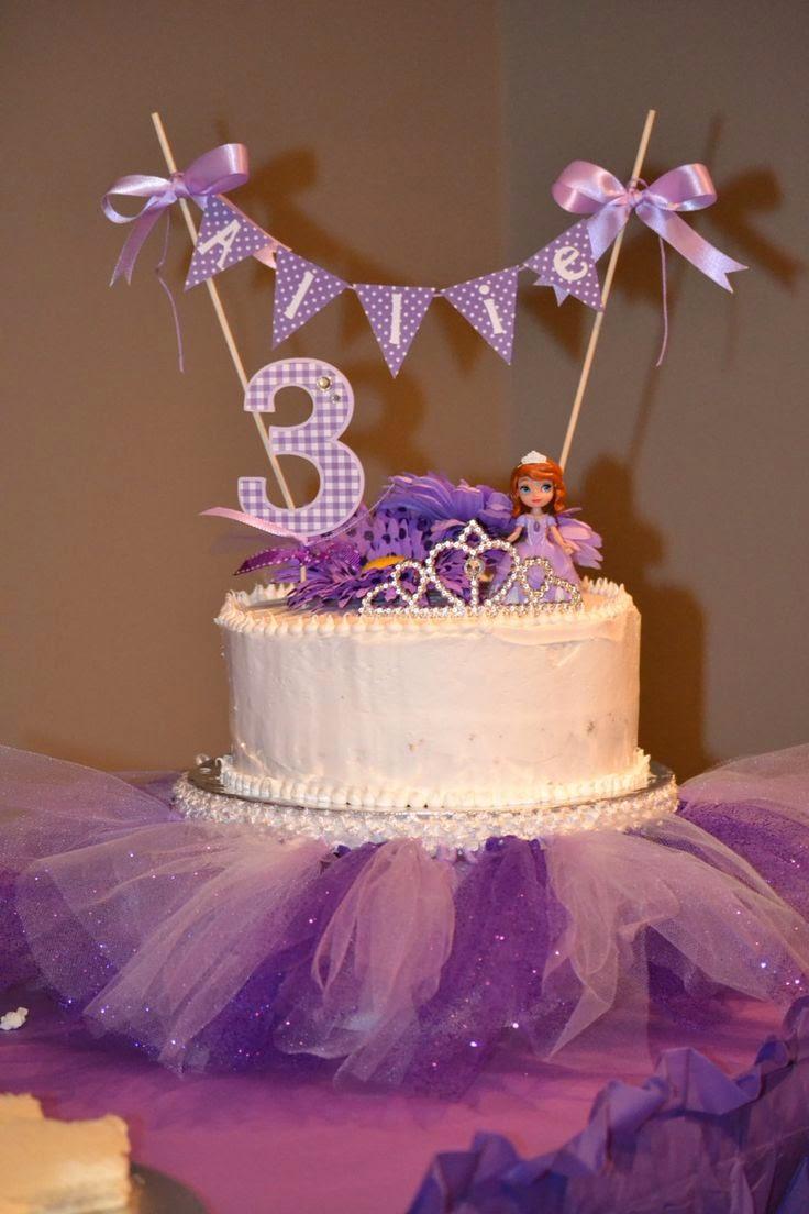 elenasprinciples Homemade Sofia the First birthday cake