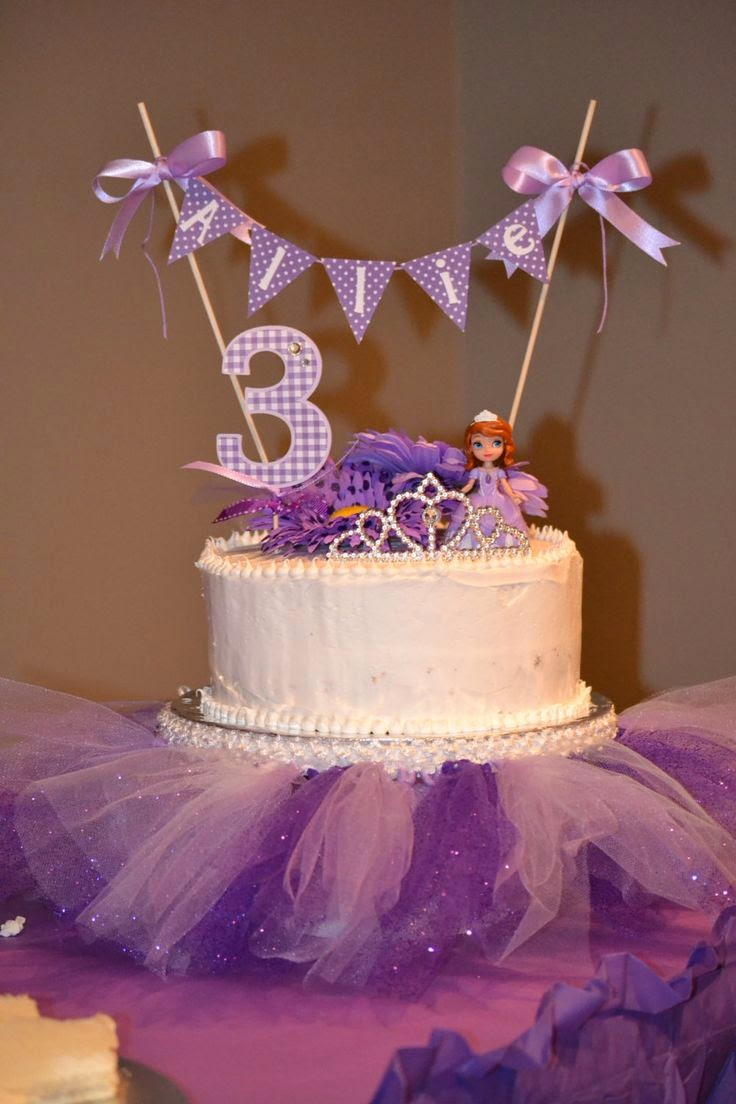 Elenasprinciples Homemade Sofia The First Birthday Cake