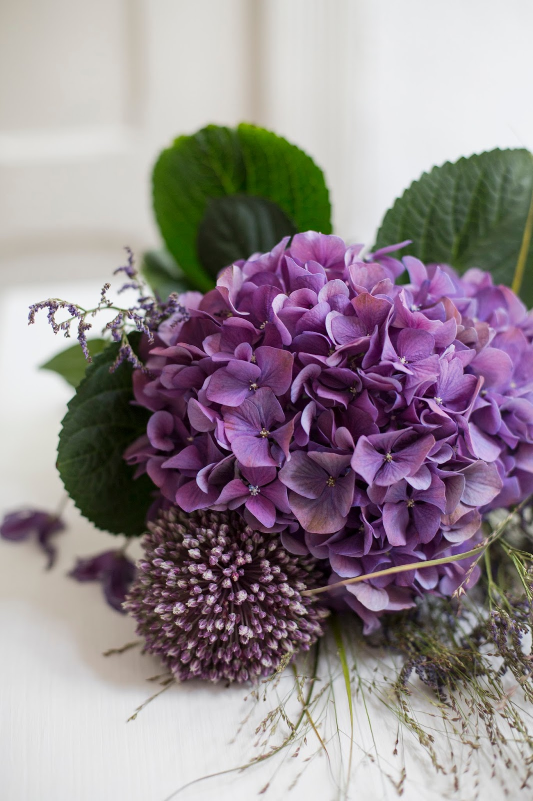 September Blumen in der Trendfarbe Lila