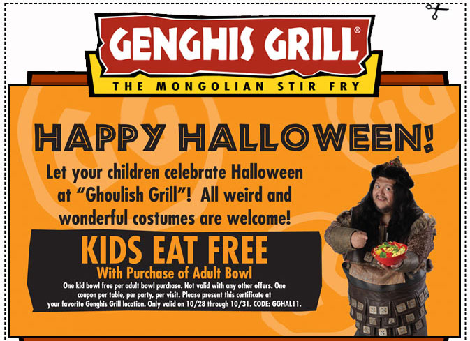 graphic regarding Genghis Grill Printable Coupon called Genghis grill houston coupon codes printable : Costco coupon codes united kingdom