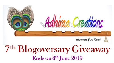 Giveaway by Adhiraa creations