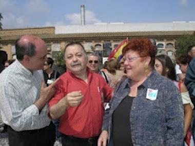 Pere Bessó junto a Gloria Marcos