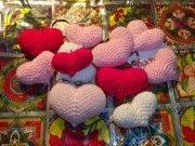 Corazones amigurumi
