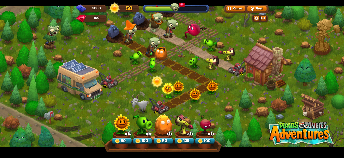 Plants vs. Zombies llego a facebook de mack zuckerberg