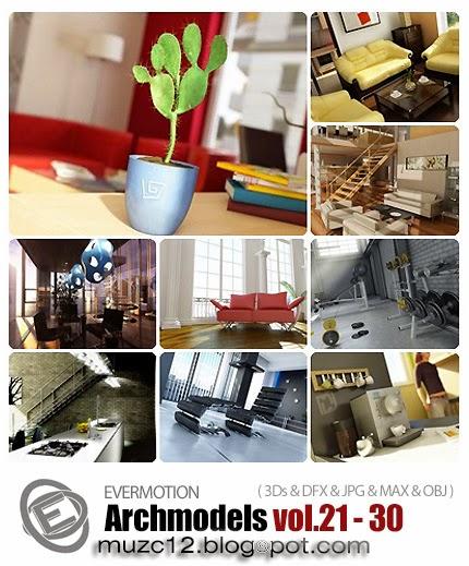 Download 3d model: Archmodels vol 21-30 (free)