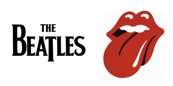 a tale of two rock and roll band logos go retro