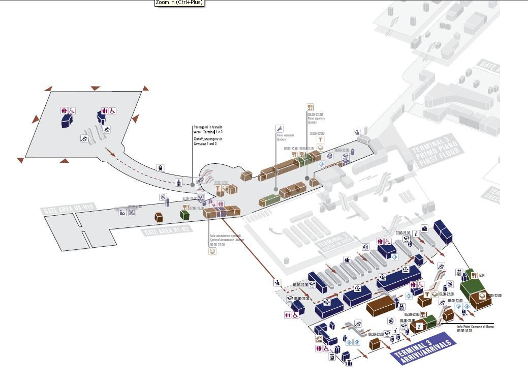 Схема аэропорта Рима: