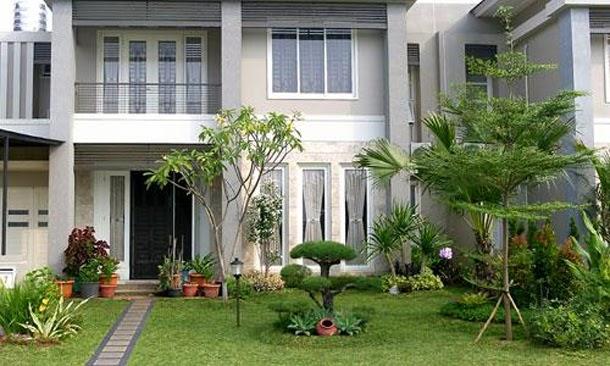 contoh desain taman rumah asri dan cantik desain rumah