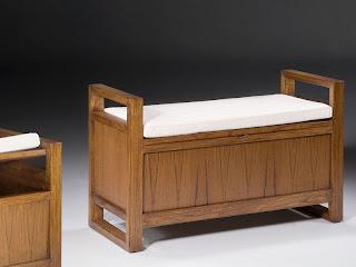 banco con cojin tapizado, baul banco, banqueta con baul, mueble descazadora