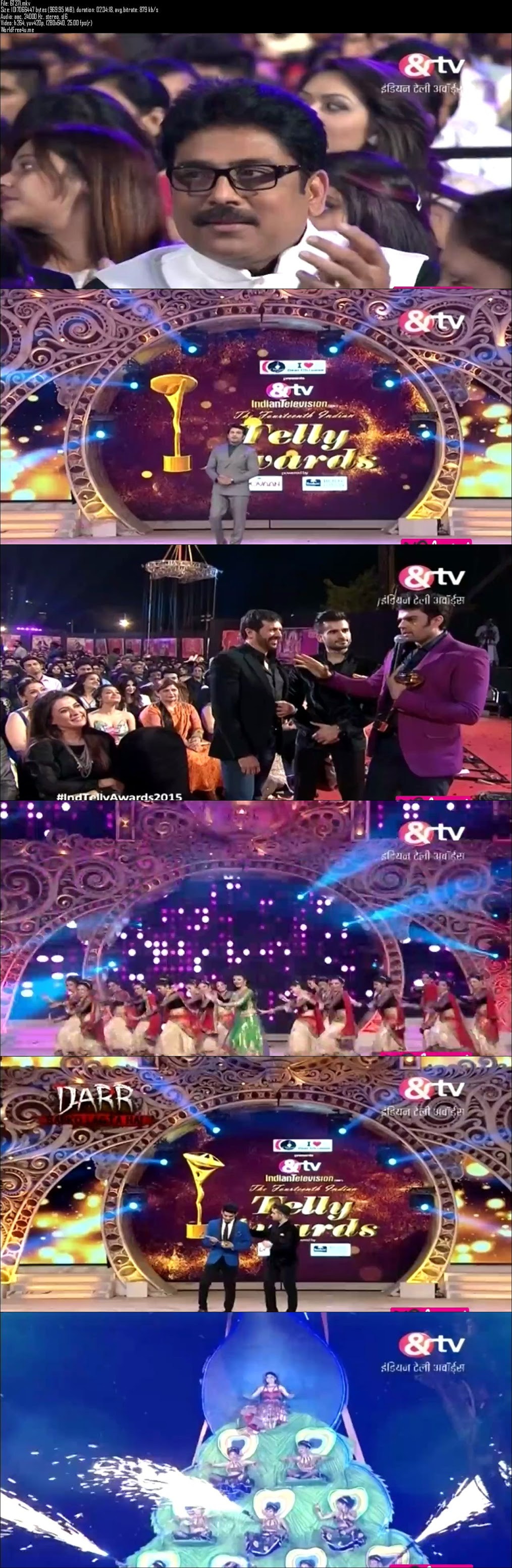 Screenshots Of 14th Indian Telly Awards 2015 Full Show Dailymotion HDTVRip 720P Download HD