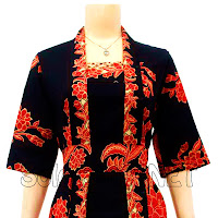 DB3040 - Model Baju Dress Batik Modern Terbaru 2013