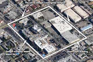 Google Map showing possible location of their planned LosAngeles campus.