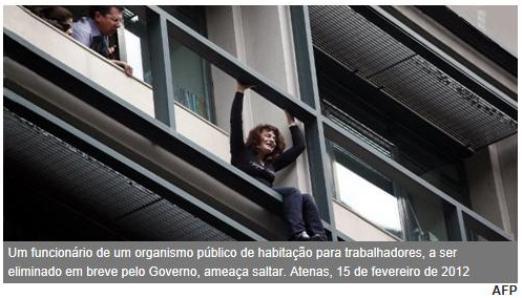 """Grécia - Suicidios: """"SÓ TENHO CINCO EUROS E ESTOU A ENTRAR EM PÂNICO"""""""