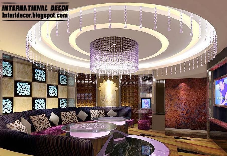 False ceiling pop designs with led ceiling lighting ideas 2018 for Ceiling lighting ideas for living room