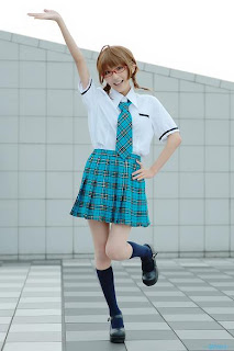 Chamaro Cosplay as Akizuki Ritsuko from The Idolmaster