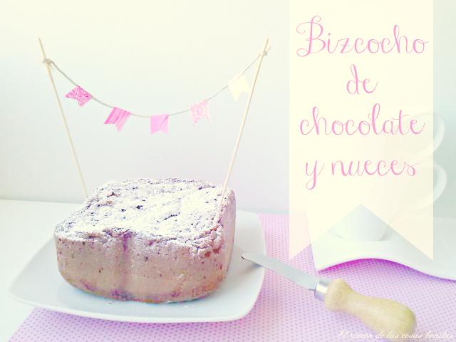 bizcocho chocolate nueces