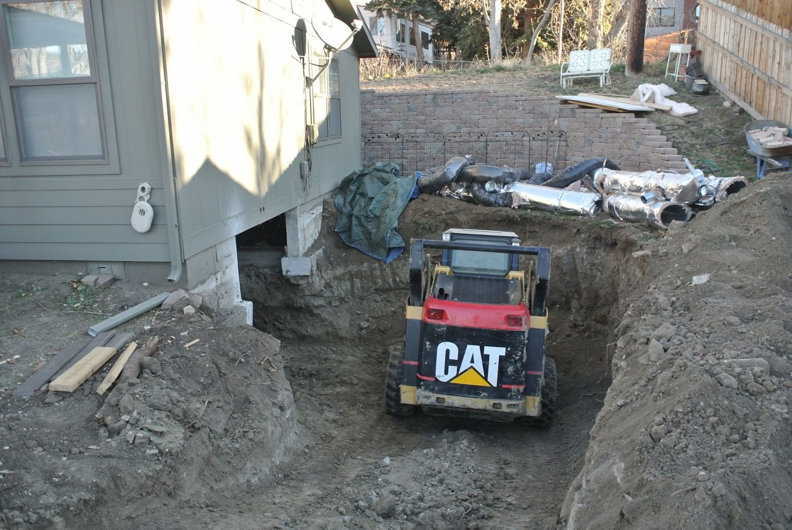 sunday reminiscences footers floor crawl space to basement dig