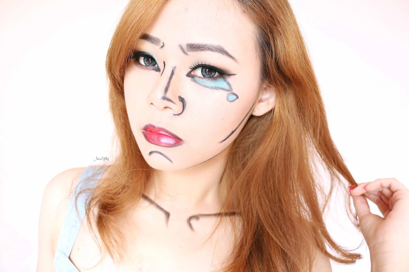 Halloween Makeup : Easy Pop Art   Video Tutorial   Jean Milka