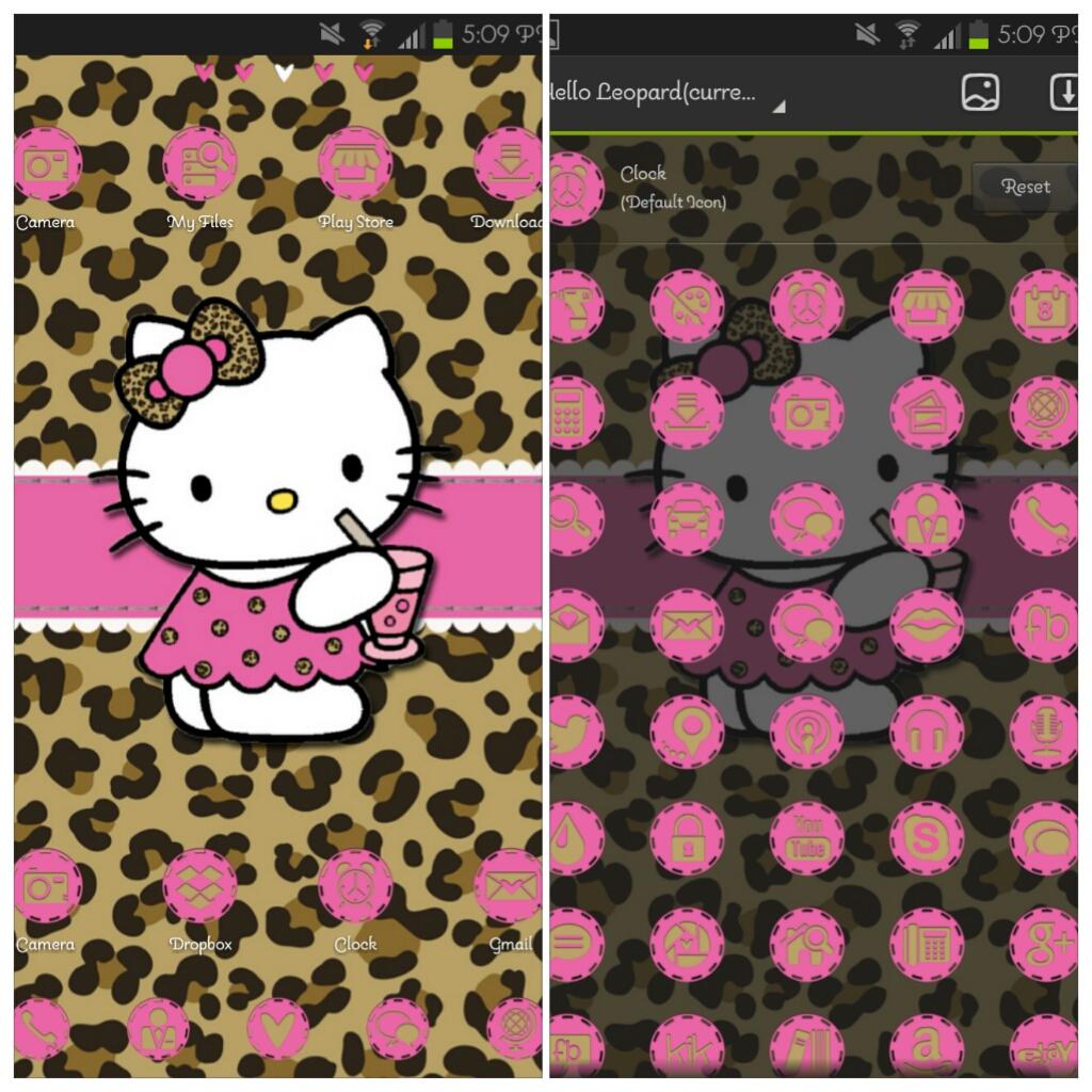 Hello Leopard Kitty Go Launcher Mommy Lhey