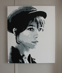 Original Painting on Canvas - Francoise Hardy - $500