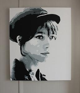 Original Painting on Canvas - Francoise Hardy - $500