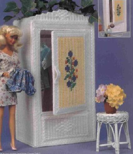 Armario para barbie en plasticcanvas labores de esther for La casa de mi gitana muebles
