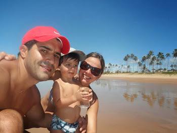 Mariana, Cristiano e Bernardo
