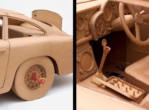 04-Car-2-Detail-Life-Size-Chris-Gilmour-Cardboard-Sculptures-www-designstack-co