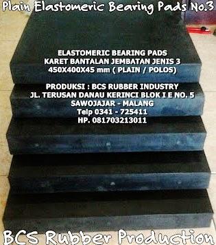 Elastomer Bearing Pads - BCS Rubber Industry,Bantalan jembatan ,Karet Bantalan Jembatan