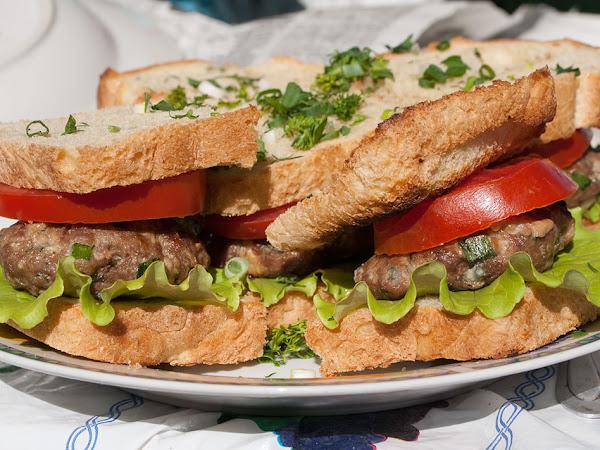Сендвич с голубым сыром