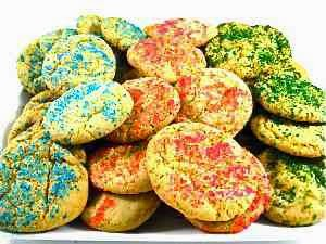 Skinny Holiday Sugar Cookies, Skinny Kitchen, 37 calories or 1P+
