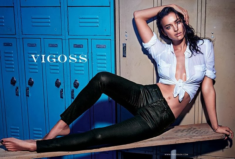 Vigoss Spring/Summer 2014 Campaign has Irina Shayk in figure-hugging denim designs