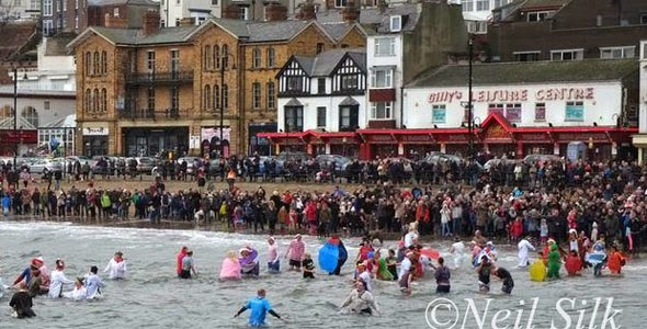 New Years Day Dip Scarborough 2015