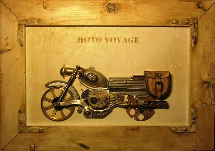 07-Moto-Voyage-Arturas-Tamasauskas-Recycled-and-Upcycled-Steampunk-Sculptures-www-designstack-co