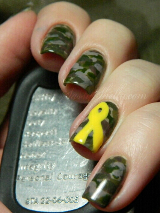 Army Nail Art Support Our Troops! Ca...