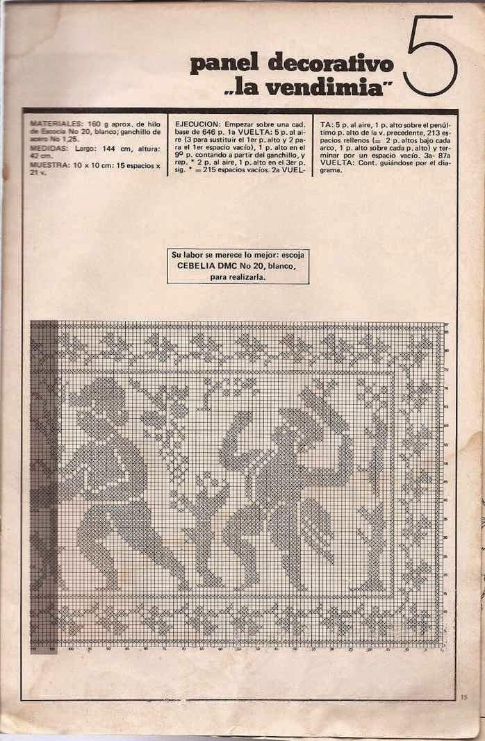 #15 Panel Decorativo La Vendimia a Crochet