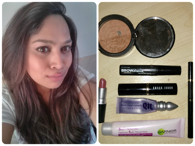 Mac Mehr, Urban Decay Primer Potion, Maybelline Brow Drama, Too Faced Sun Bunny, L'oreal Superliner