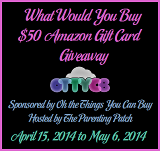 Enter the What Would You Buy $50 Amazon Gift Card Giveaway. Ends 5/6.