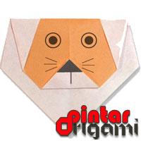 Cara Membuat Origami Wajah Singa