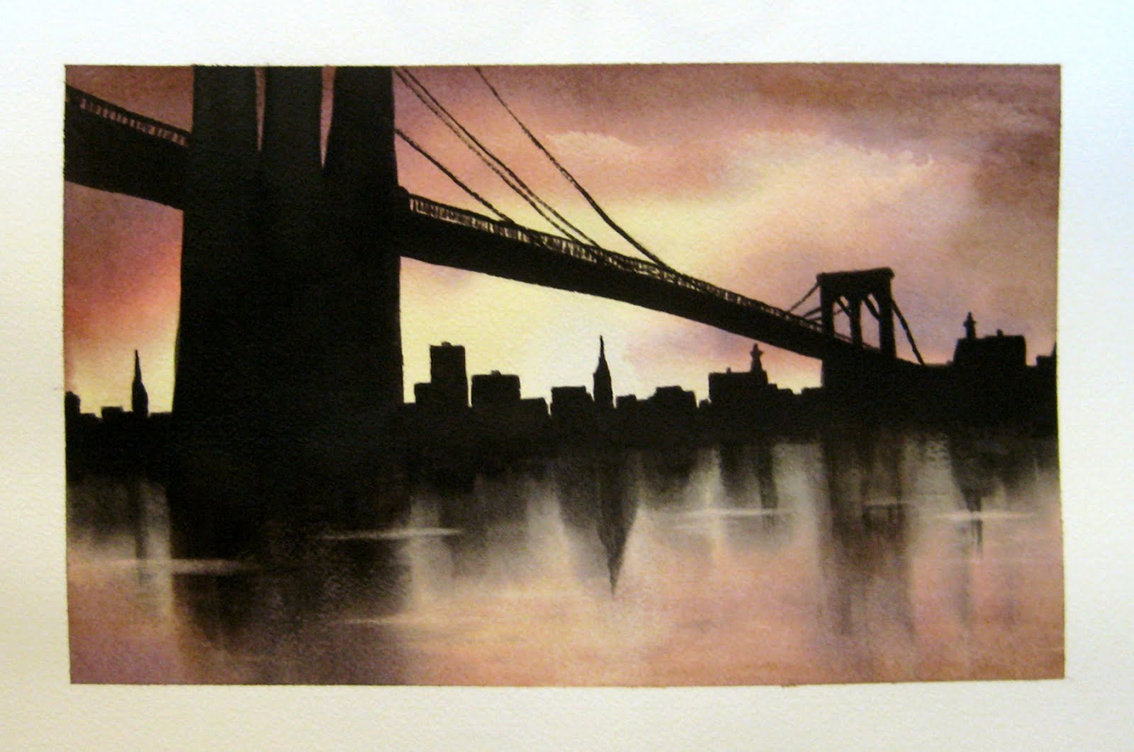 Pin by Art Work... New York Skyline Drawing Autistic