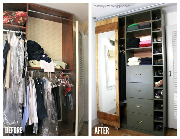 Walk In Closet Makeover With Built Ins Before And After