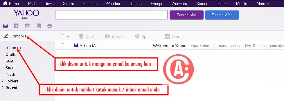 cara membuat / mendaftar email baru di yahoo - halaman utama yahoo mail