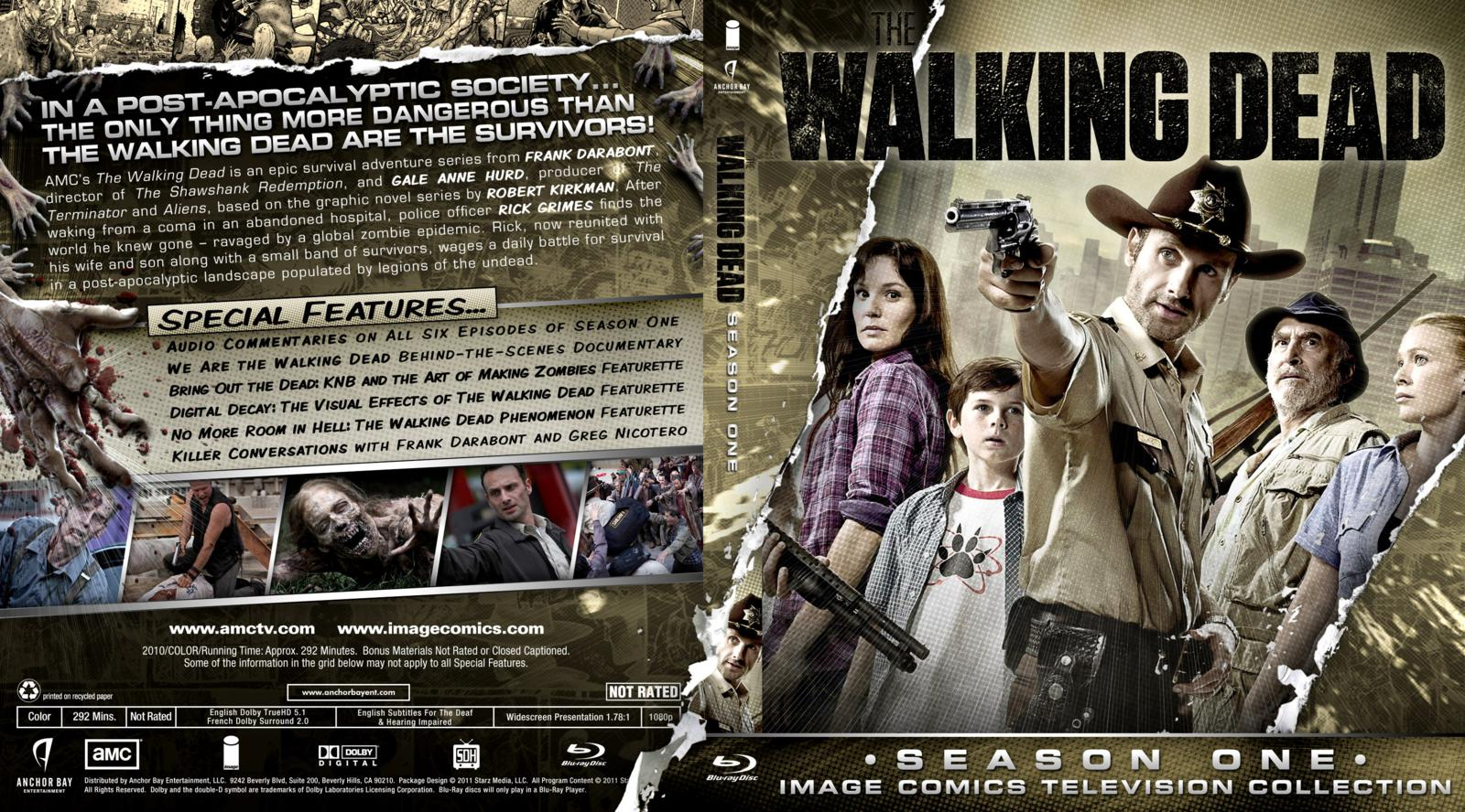 Capa Bluray The Walking Dead Season One