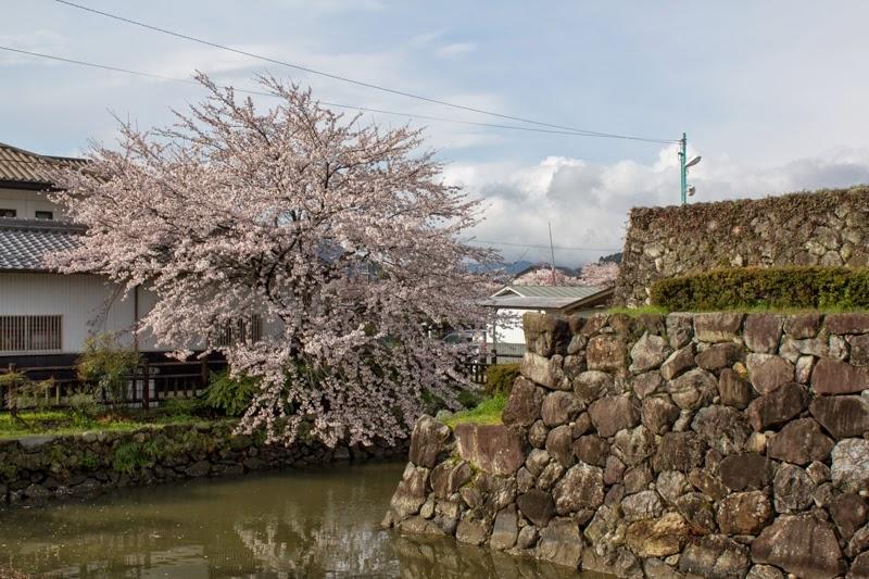 Stone wall and water moat of Takenaka Jinya